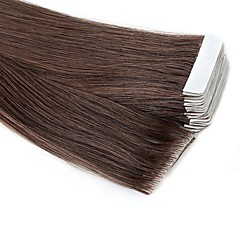 cheap Tape in Hair Extensions-Neitsi Tape In Human Hair Extensions Straight Black Human Hair Extensions Remy Human Hair Brazilian Hair 1pack Sidespray / New Arrival Women's