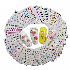 billige Negleklistremerker-30 Dekaler Sett 3D Nail Stickers Andre dekorasjoner Mote Daglig Høy kvalitet