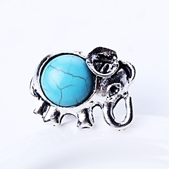 cheap Men's Rings-Men's Turquoise Band Ring - Turquoise Animal Simple, Cartoon Jewelry Silver For Daily Adjustable