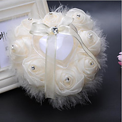 cheap Wedding Ceremony-Laces Satin Silk Ring Pillows Wedding Ceremony Wedding Classic Theme