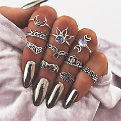 cheap Rings-Women's Hamsa Hand Knuckle Ring - Hamsa Hand Metallic / Vintage Silver Ring For Daily / Bar