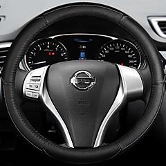 billige Rattovertrekk til bilen-Rattovertrekk til bilen Lær 38 cm Blå / Hvit / Rød For Nissan Teana 2013