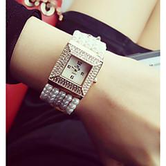 Χαμηλού Κόστους -χαλαζία ρολόι γυναικών ρολόι Ιαπωνικά casual watch μαργαριτάρι μπάντα γοητεία λευκό