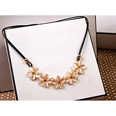 Women's Pendant Necklaces Opal Flower Rhinestone Cute Style Floral Jewelry For Party Daily
