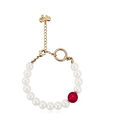 billige Fine smykker-Dame Imiteret Perle Imiteret Perle Smuk Kæde & Lænkearmbånd - Sød Cirkelformet Hvid Armbånd Til Gave Stævnemøde