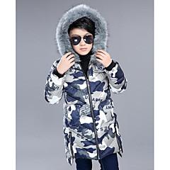tanie Odzież dla chłopców-Dzieci Dla chłopców Solidne kolory / Moro Długi rękaw Bawełna Odzież puchowa / pikowana