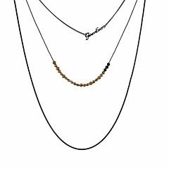 女性用 カラー ライン 銅 銀メッキ ゴールドメッキ カジュアル ロック クール ファッション 多層式 ジュエリー 用途 その他 バー