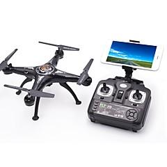 billige Fjernstyrte quadcoptere og multirotorer-RC Drone X5SW-1 4 Kanaler 6 Akse 2.4G Med HD-kamera 1.0MP 1080P*720P Fjernstyrt quadkopter LED Lys / En Tast For Retur / Feilsikker