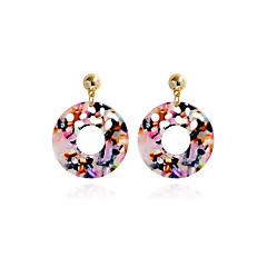 cheap Earrings-Women's Stud Earrings Drop Earrings Acrylic Metallic Acrylic Alloy Circle Jewelry For Gift Daily