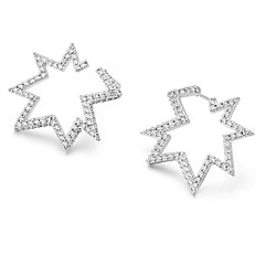 billige Fine smykker-Dame Kvadratisk Zirconium Zirkonium / Sølvbelagt Stangøreringe - Elegant / Mode Sølv Uregelmæssig Øreringe Til Gave / Stævnemøde
