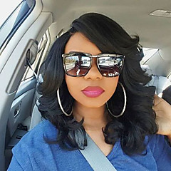 cheap Wigs & Hair Pieces-Human Hair Unprocessed Human Hair Lace Front Wig Brazilian Hair Curly Wig Bob 130% Density with Baby Hair 100% Virgin Unprocessed Women's Short Human Hair Lace Wig