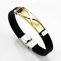 cheap -Men's Link Bracelet , Basic Fashion Leather Stainless Geometric Line Jewelry For Daily Ceremony
