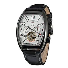 お買い得  レディース腕時計-FORSINING 男性用 女性用 カジュアルウォッチ ファッションウォッチ リストウォッチ 自動巻き カレンダー PU バンド カジュアル クール