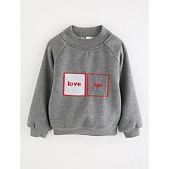 billige Hættetrøjer og sweatshirts til piger-Baby Pige Tegneserie Ensfarvet Bomuld T-shirt