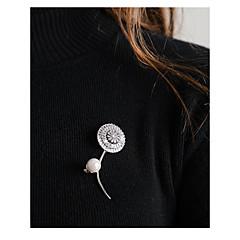 billige Fine smykker-Dame Blomst Brocher - Simple / Mode Sølv Broche Til Daglig / Arbejde