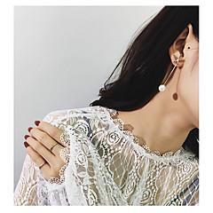 billige Fine smykker-Dame Blomster Blomst Imiteret Perle 2stk Stangøreringe - Blomster / Mode Guld Øreringe Til Gave / Aftenselskab