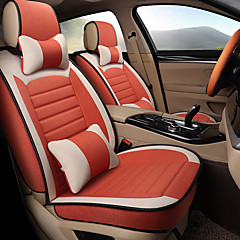 ODEER Car Seat Cushions Orange Linen Fabrics Lady For Universal All Years General Motors