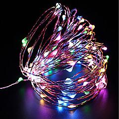 Χαμηλού Κόστους Φωτιστικά LED-ZDM® 10 ίντσες Φώτα σε Κορδόνι 100 LEDs SMD 0603 Φως ρεύματος 10Μ Θερμό Λευκό / Ψυχρό Λευκό / Κόκκινο <5 V 1pc / IP68