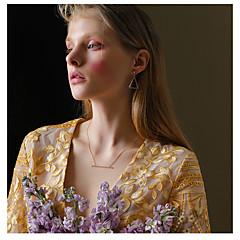 billige Fine smykker-Dame 2stk Dråbeøreringe - Mode / Koreansk Guld / Sølv Trekant / Geometrisk form Øreringe Til Daglig / I-byen-tøj