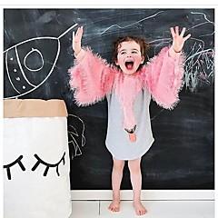 baratos Roupas de Meninas-Bébé Para Meninas Desenho Animal / Cisne Manga Longa Vestido / Algodão