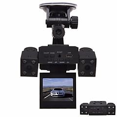 cheap Car DVR-H3000 Car DVR with 8 LED IR Night Vision Dual Cameras 2.0 inch TFT LCD Rotary Screen and Rotary Lens Car Black Box Car Recorder