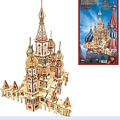 cheap -Wooden Puzzle Wood Model Model Building Kit Fashion House Classic Fashion New Design 1pcs Russian High Quality Kid's Boys' Gift