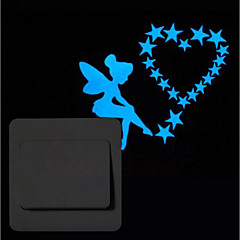 Χαμηλού Κόστους Αυτοκόλλητα τοίχου-Ζώα Άνθρωποι Αυτοκολλητα ΤΟΙΧΟΥ Αεροπλάνα Αυτοκόλλητα Τοίχου Αυτοκόλλητα Διακόπτων Φωτών, Βινύλιο Αρχική Διακόσμηση Wall Decal Διακόπτης