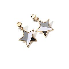 billige Fine smykker-Dame Sej Stjerne 2stk Dråbeøreringe - Mode Guld Øreringe Til I-byen-tøj / Gade