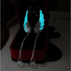 Χαμηλού Κόστους Φωτεινά κοσμήματα-Γυναικεία Κρεμαστά Σκουλαρίκια - Άγγελος φτερά Μοντέρνα, Φωτίζει Μπλε Απαλό Για Καθημερινά / Μπαρ