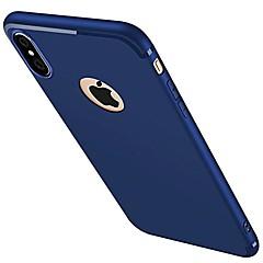 Για iPhone X iPhone 8 iPhone 7 iPhone 7 Plus iPhone 6 Θήκες Καλύμματα Παγωμένη Πίσω Κάλυμμα tok Συμπαγές Χρώμα Μαλακή Σιλικόνη για Apple