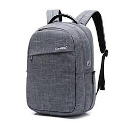 billiga Laptop Bags-15,6 tums bärbar dator vattentät nylonduk med usb laddnings port bärbar väska ryggsäck för macbook / dell / hp / lenovo / sony / acer /