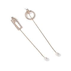 billige Fine smykker-Dame 2stk Stangøreringe / Dråbeøreringe - Simple / Koreansk Guld Geometrisk form / Rektangulær Øreringe Til I-byen-tøj / Ferie