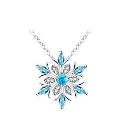 Naisten Flower Korea Makea Muoti Riipus-kaulakorut Synteettinen Sapphire Metalliseos Riipus-kaulakorut , Päivittäin