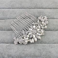 Χαμηλού Κόστους Αξεσουάρ κεφαλής για πάρτι-Κράμα Κομμάτια μαλλιών με Τεχνητό διαμάντι / Πέρλες 1pc Γάμου / Καθημερινά Ρούχα Headpiece