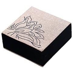 billige Smykkeemballage og displays-Smykkeskrin Manchetknapper Box Kvadrat Linned Klæde Stof