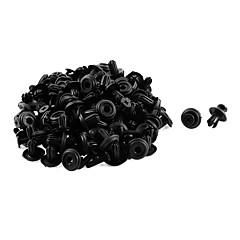 hesapli Yakıt Sistemleri-50 adet 14 x 6mm siyah plastik tampon çamurluk astarı basmalı tutucu perçin