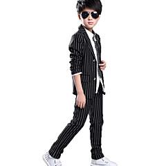 tanie Odzież dla chłopców-Dzieci Dla chłopców Na co dzień / Moda miejska Szkoła Jendolity kolor / Prążki Nadruk Długi rękaw Bawełna Komplet odzieży