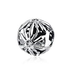 billige Perler og smykkemaking-DIY Smykker 1 stk Perler Sølv Sølv Rund Perlene 1.1 cm DIY Halskjeder Armbånd