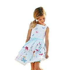 billige Pigekjoler-Baby Pige Vintage I-byen-tøj Blomstret / Galakse / Jacquard Vævning Uden ærmer Kjole / Bomuld