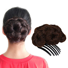 Χαμηλού Κόστους Αλογοουρές-Σινιόν Κότσος Updo Κορδόνι Συνθετικά μαλλιά Κομμάτι μαλλιών Hair Extension Φράουλα Ξανθιά / Medium Auburn / Μαύρο / Σκούρο Καφέ / Medium Auburn