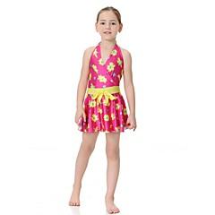billige Badetøj til piger-Børn Pige Afslappet / Aktiv Sport / Strand Blomstret Uden ærmer Badetøj