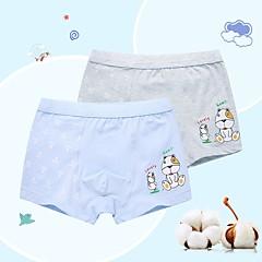billige Undertøj og sokker til drenge-Drenge Undertøj Tegneserie, Bomuld Alle årstider Mikroelastisk Blå Grøn
