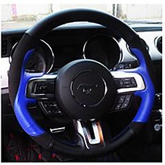 billige Rattovertrekk til bilen-Rattovertrekk til bilen ekte lær 38 cm Blå / Rød For Ford Mustang 2015 / 2016 / 2017