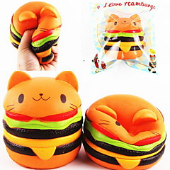 cheap Novelty & Gag Toys-LT.Squishies Squeeze Toy / Sensory Toy Stress Relievers Round Cat Emoji Hamburger Animal Office Desk Toys Stress and Anxiety Relief