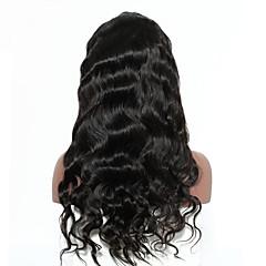 billiga Peruker och hårförlängning-Äkta hår Spetsfront Peruk Peruanskt hår Kroppsvågor / Kinky Curly Med babyhår 250% Densitet Naturlig hårlinje Dam Mellan / Lång Äkta peruker med hätta / Sexigt Lockigt
