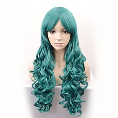 cheap Wigs & Hair Pieces-Synthetic Wig Women's Body Wave Green Synthetic Hair Green Wig Long Capless Black / Dark Green