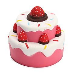 tanie Odstresowywacze-LT.Squishies / Squishy Zabawki do ściskania Okrągły Cylindryczny Tort Truskawkowy Zabawki biurkowe Stres i niepokój Relief Zabawki