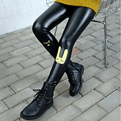 billige Bukser og leggings til piger-Pige Bukser Mønster, PU Vinter Sødt Sort