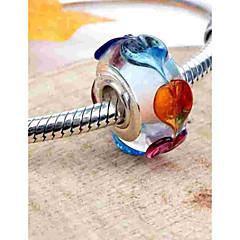 baratos Miçangas & Fabricação de Bijuterias-Jóias DIY 1 pçs Contas Vidro Liga Prata Redonda Bead 0.2 cm faça você mesmo Colar Pulseiras