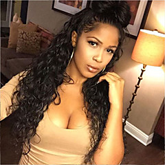 cheap Wigs & Hair Pieces-Human Hair Glueless Lace Front Lace Front Wig Brazilian Hair Curly Wig 130% Density with Baby Hair Natural Hairline African American Wig 100% Virgin Unprocessed Women's Short Medium Length Long Human